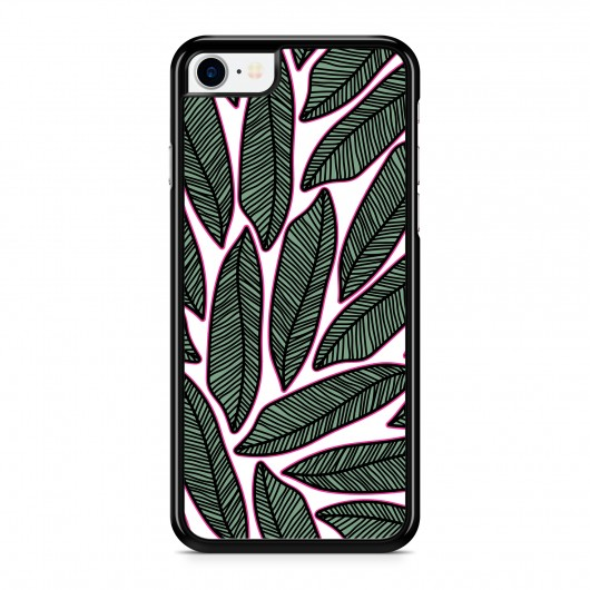 Coque iPhone 7 Tropical Arty Vert