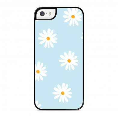 Coque iPhone 5/5s/SE Marguerite Bleu
