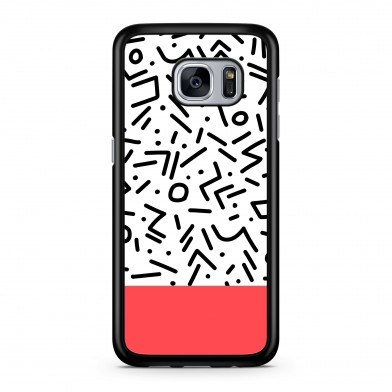 Coque iPhone 5/5s/SE Graphique Contemporary Rouge