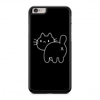 Coque iPhone 5/5s/SE Chat Cross Back Noir