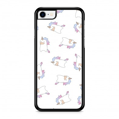 Coque iPhone 5/5s/SE Licorne Pretty Rose