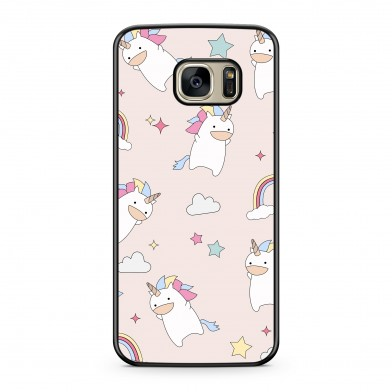 Coque iPhone 5/5s/SE Licorne & Rainbow Rose