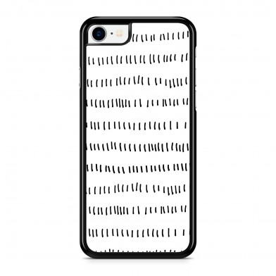 Coque iPhone 5/5s/SE Graphique Short Lines Noir