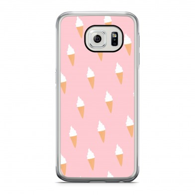 Coque iPhone 5/5s/SE Little Ice Cream Rose Rigide Transparente vue de dos