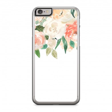 Coque iPhone 5/5s/SE Fleurs Romantic Rose Rigide Transparente vue de dos