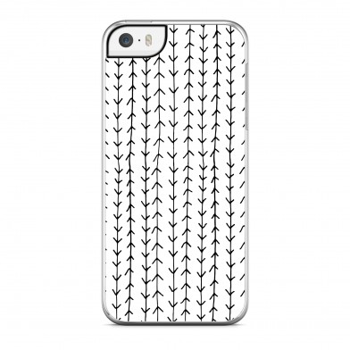 Coque iPhone 5/5s/SE Arrows Noir Rigide Transparente vue de dos