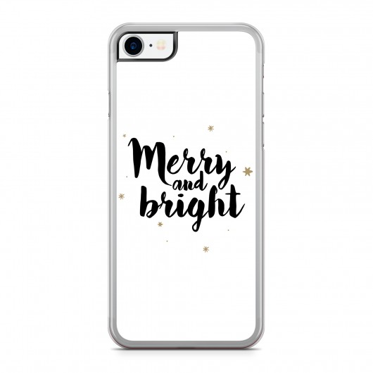 Coque iPhone 7/8 Merry and Bright Noir Rigide Transparente vue de dos