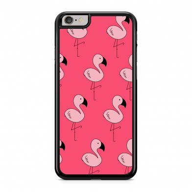 Coque iPhone 5/5s/SE Flamants Roses Cute Rose Rigide Noire vue de dos