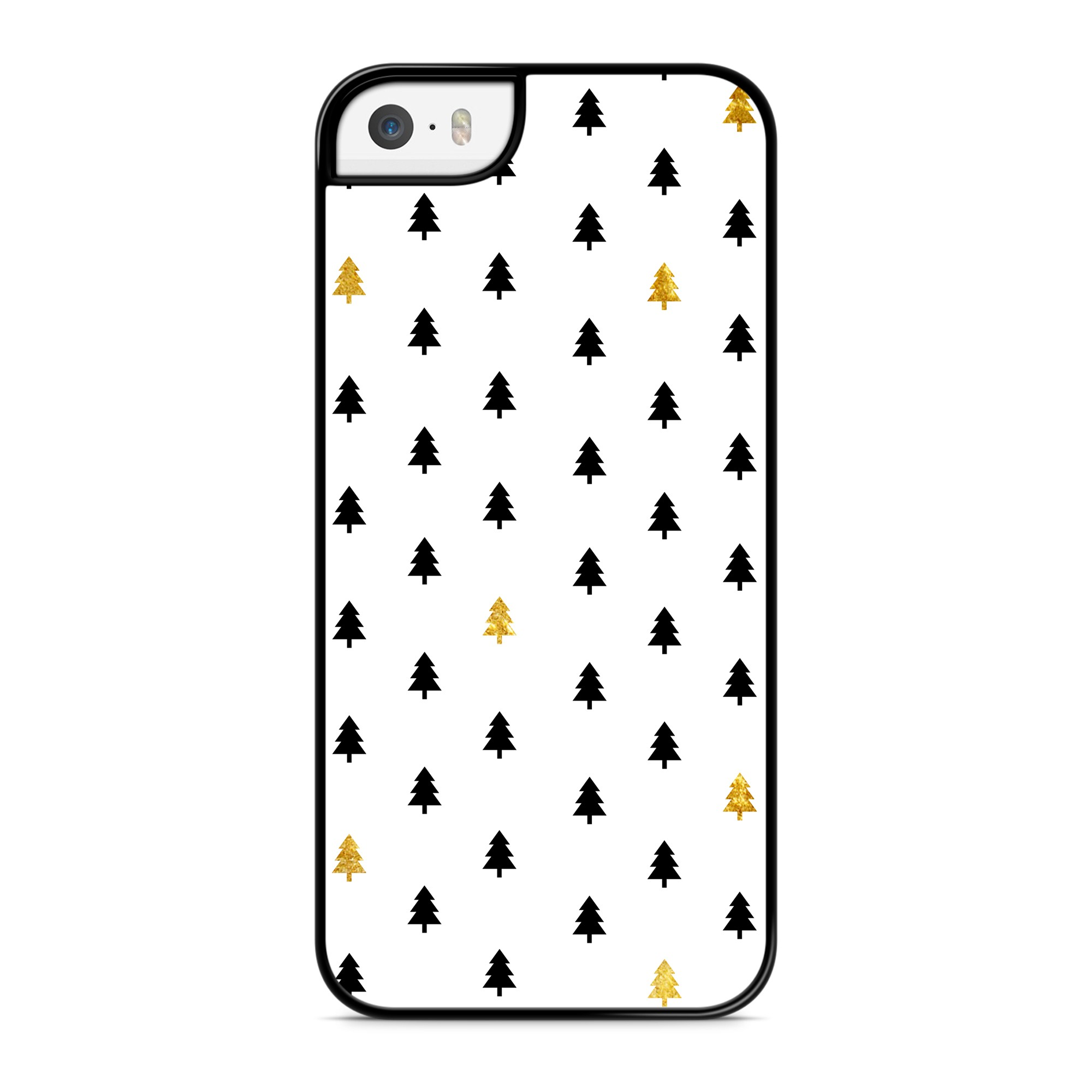 Coque Winter Little Trees Doré Noir