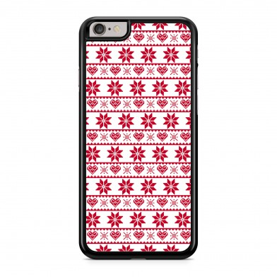 Coque iPhone 5/5s/SE Winter Jumper Rouge Rigide Noire vue de dos