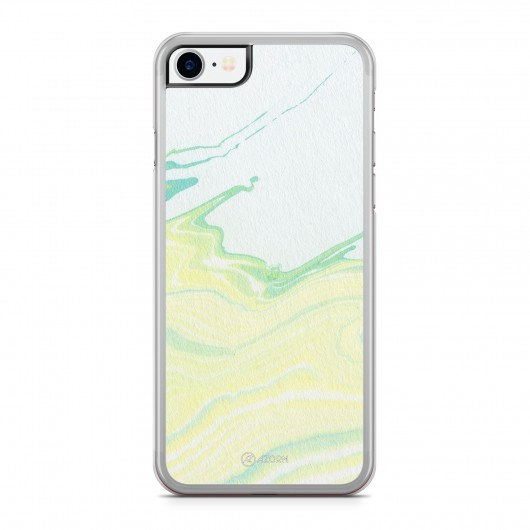 Coque iPhone 7 Marbre Pastel Jaune
