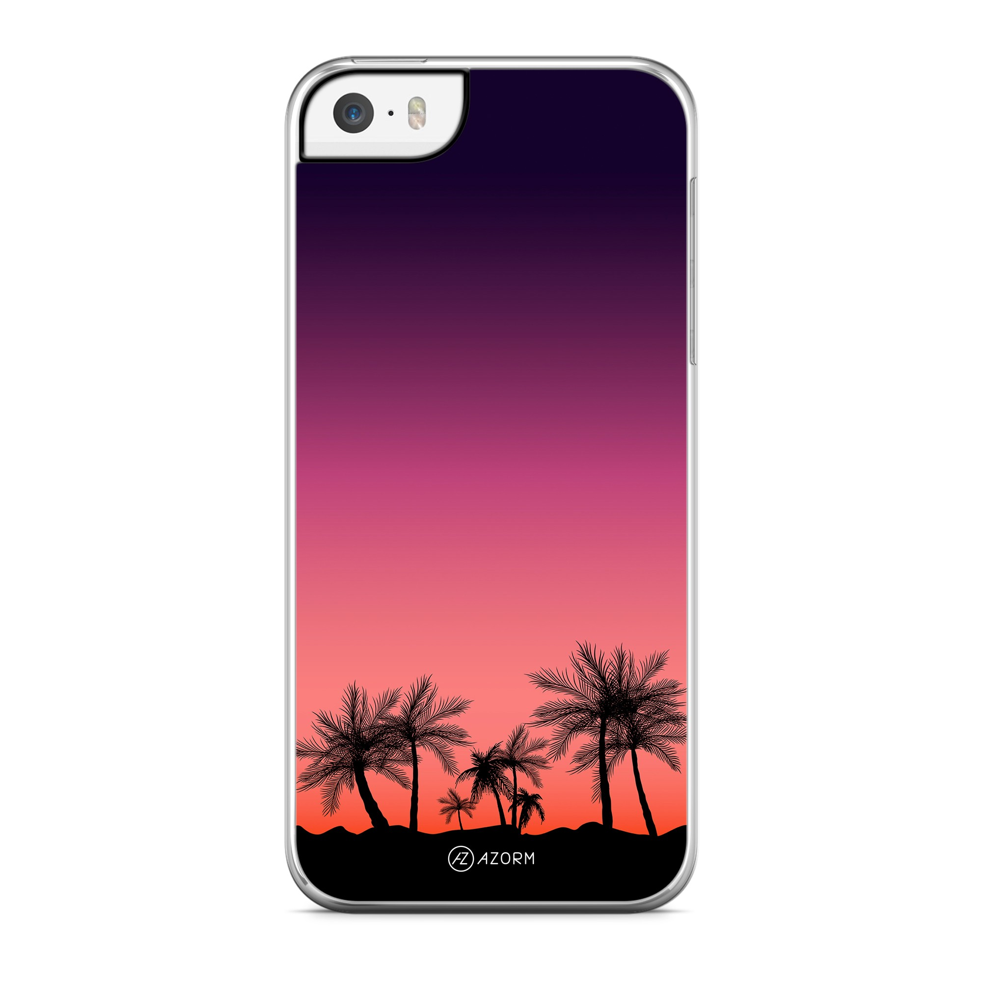 Coque Palmier Sunset Orange
