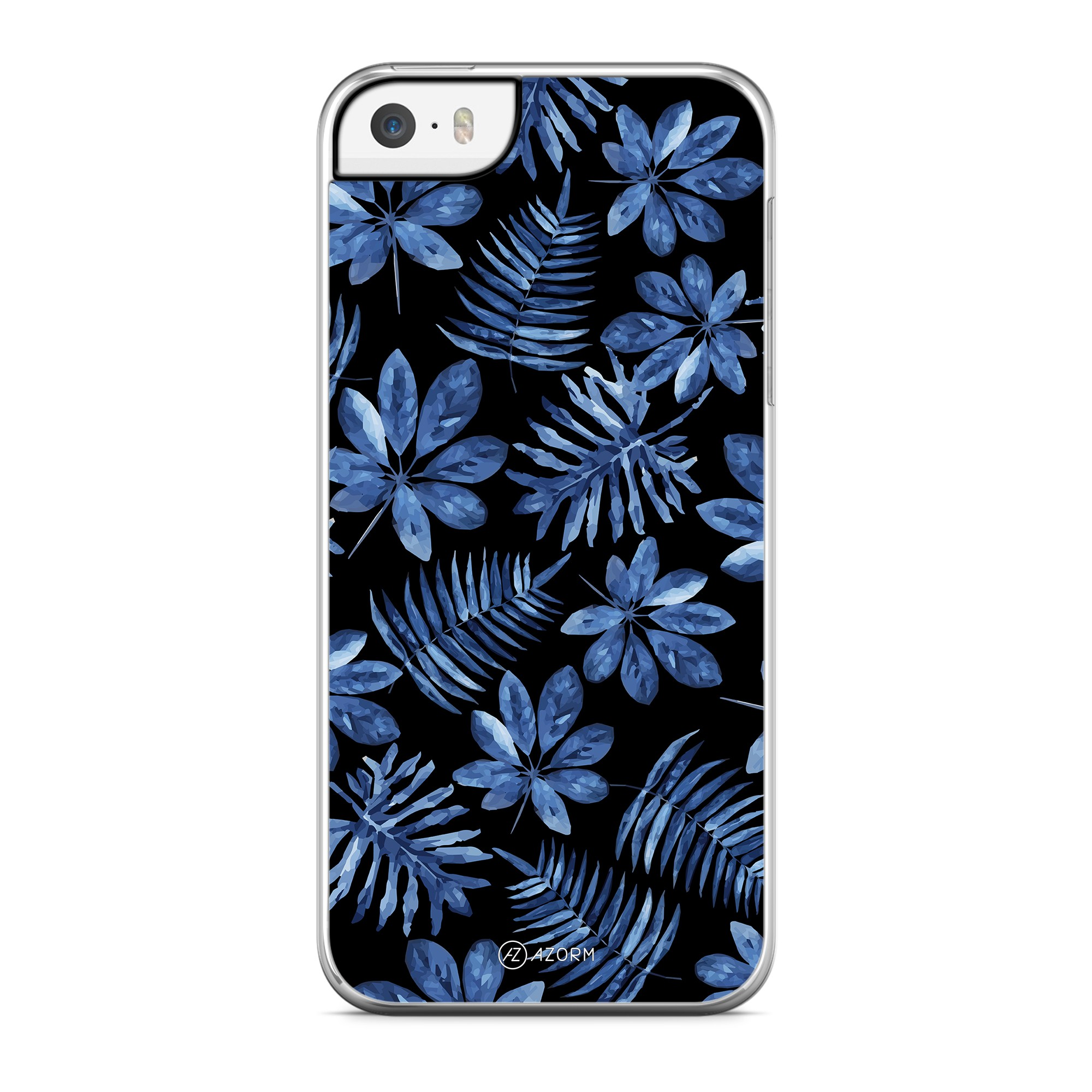 Coque Tropical Dark forest Bleu