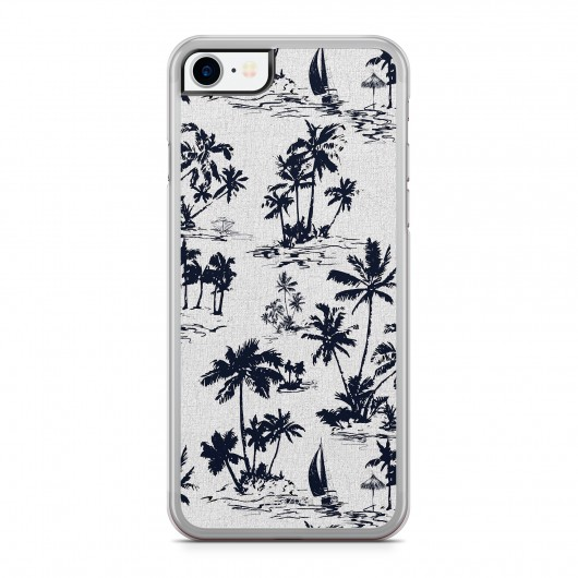 Coque iPhone 7 Palmier Vintage California Blanc