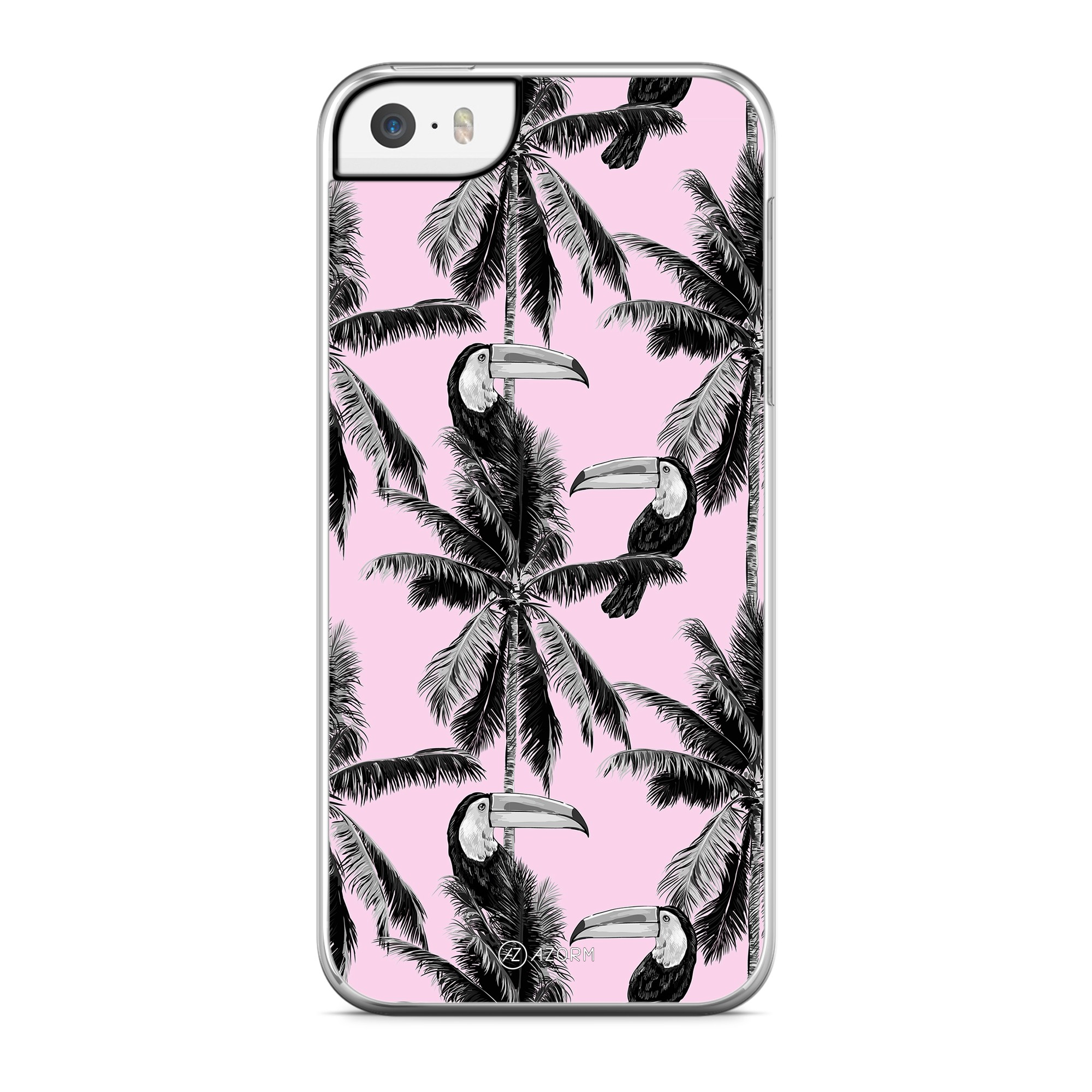 Coque Palmier Vintage California Rose