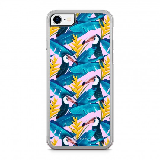Coque iPhone 7 Tropical Little Pelican Rose