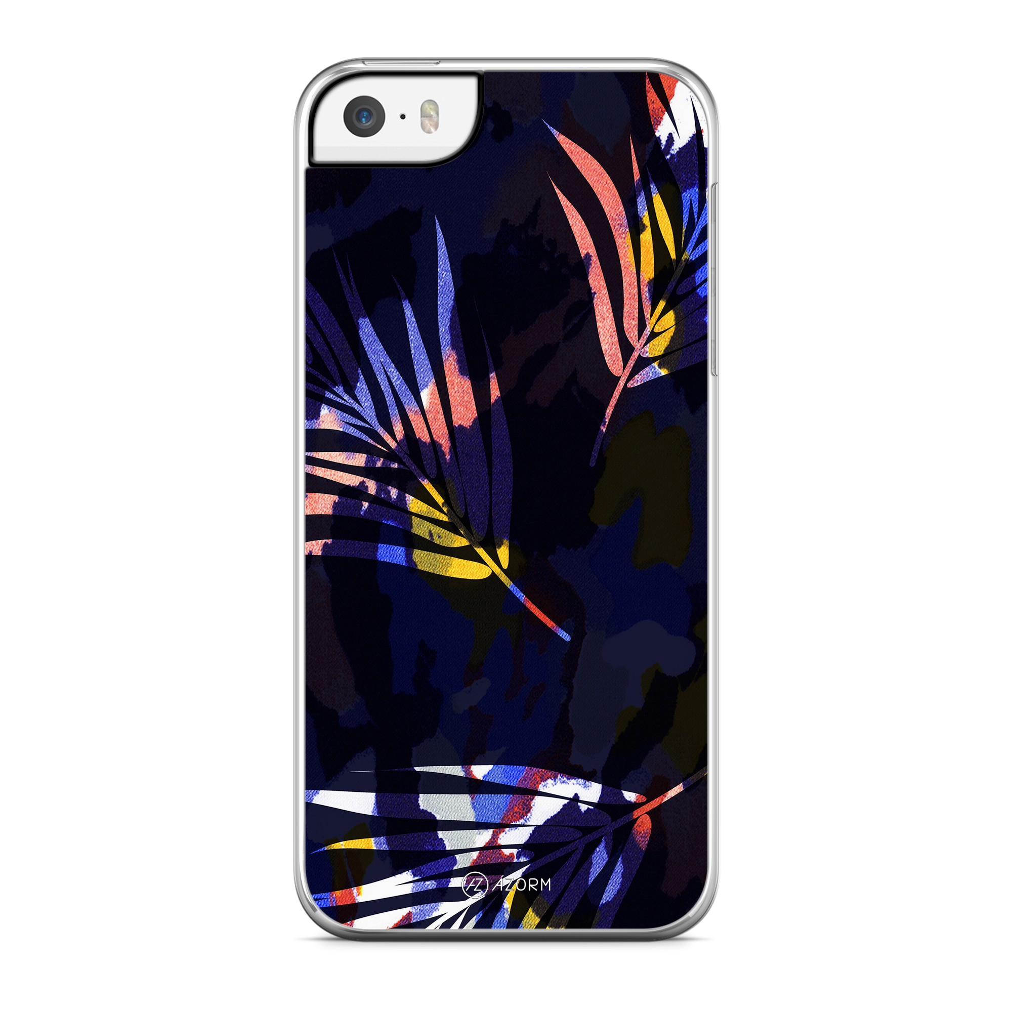 Coque Colorful Palmier Noir