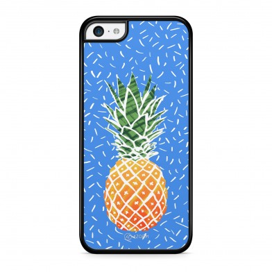 Coque iPhone 5/5S/SE Sweet Ananas Bleu