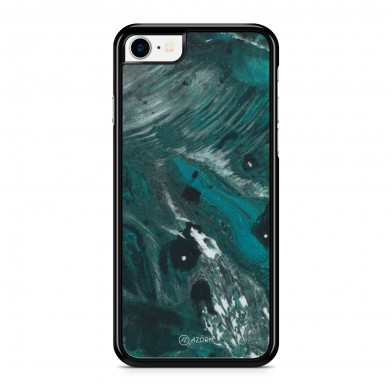 Coque iPhone 5/5S/SE Marbre Exotic Vert