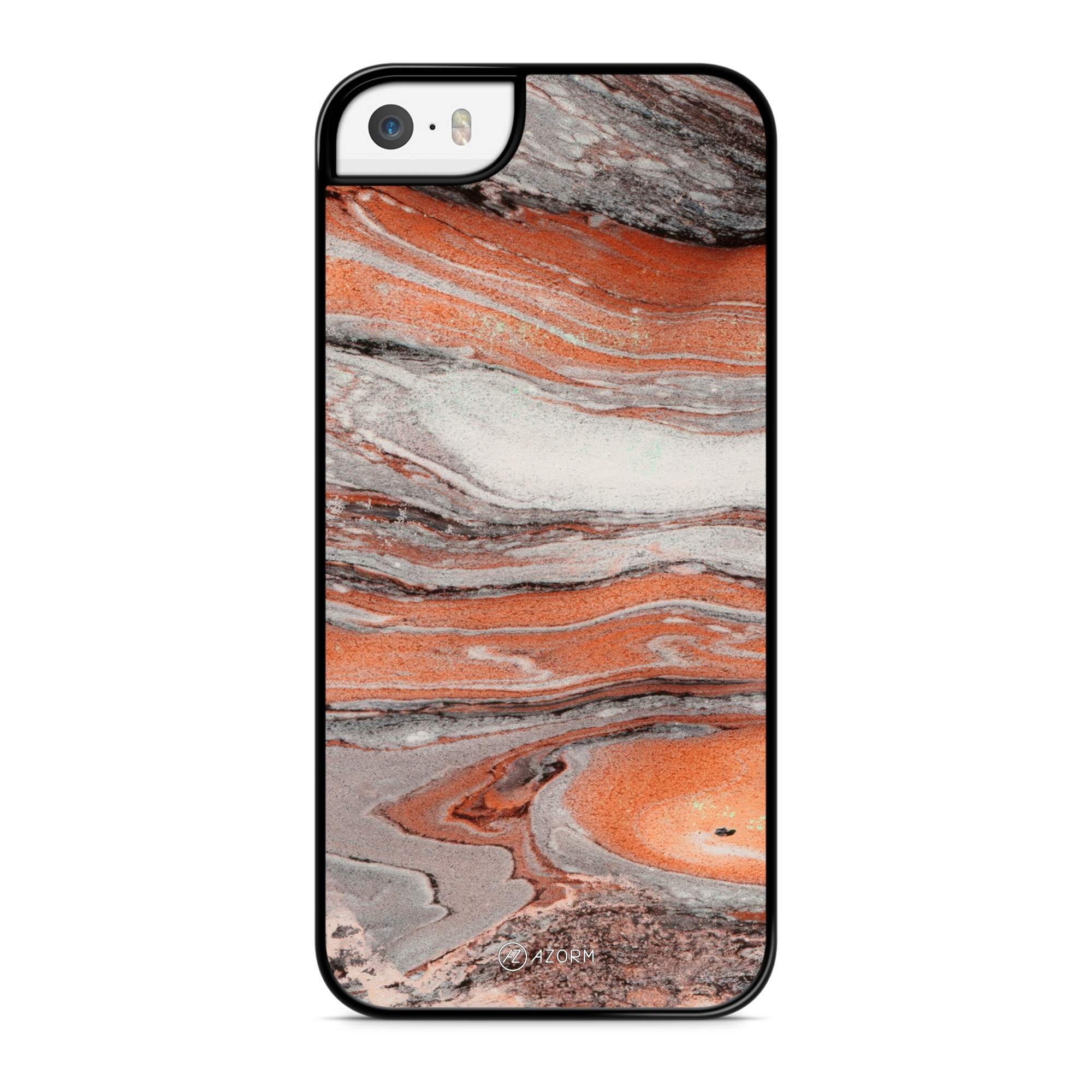 Coque Marbre Exotic Orange