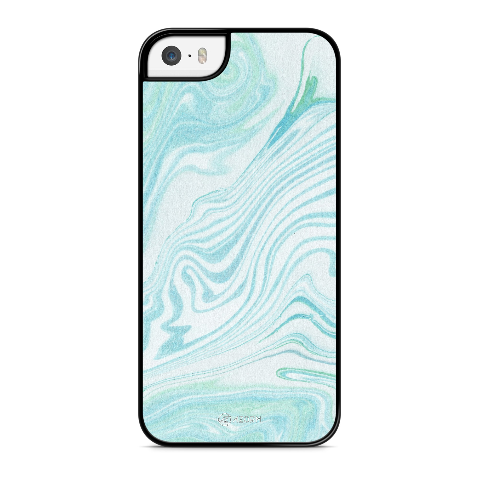 Coque Marbre Pastel Bleu