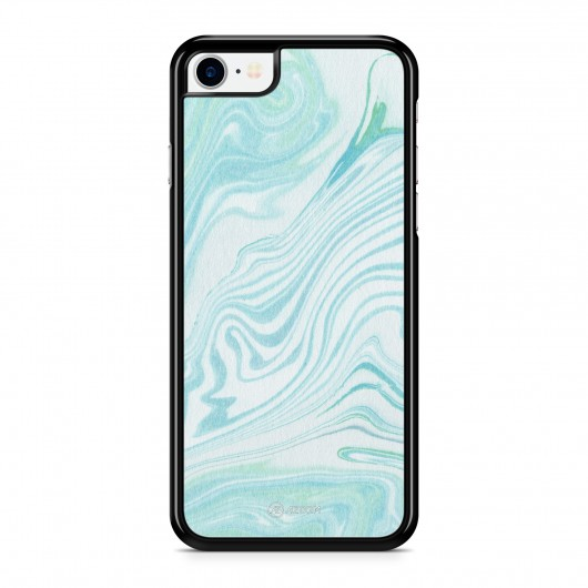 Coque iPhone 7 Marbre Pastel Bleu