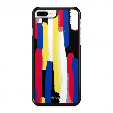 Coque iPhone 5/5S/SE Abstract Painting Jaune et Rouge