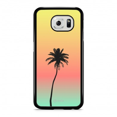 Coque iPhone 5/5S/SE Palmier Sunset Jaune
