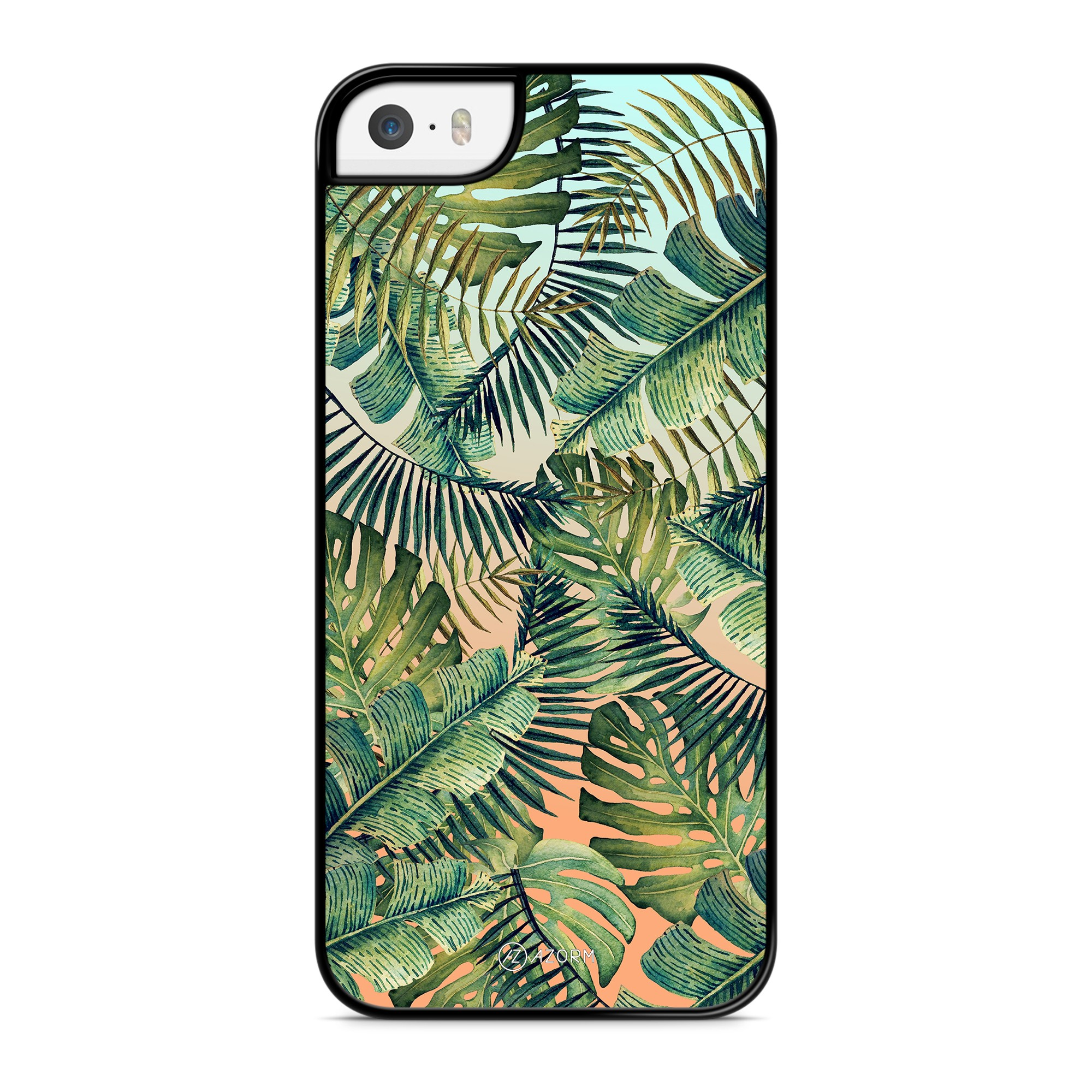 Coque Tropical Forest Orange et Vert