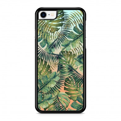 Coque iPhone 5/5S/SE Tropical Forest Orange et Vert