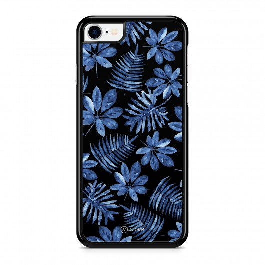 Coque iPhone 7 Tropical Dark forest Bleu