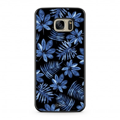 Coque iPhone 5/5S/SE Tropical Dark forest Bleu