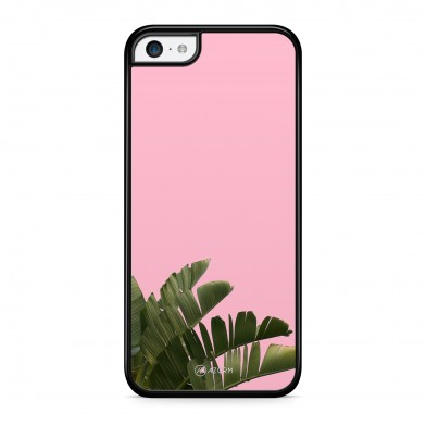 Coque iPhone 5/5S/SE Pop Palmier Rose