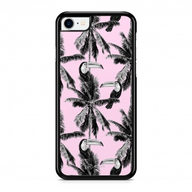 Coque iPhone 5/5S/SE Palmier Vintage California Rose