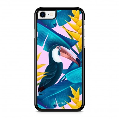 Coque iPhone 5/5S/SE Tropical Pelican Rose
