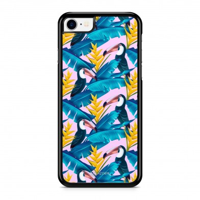 Coque iPhone 5/5S/SE Tropical Little Pelican Rose
