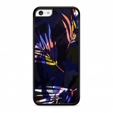 Coque iPhone 5/5S/SE Colorful Palmier Noir