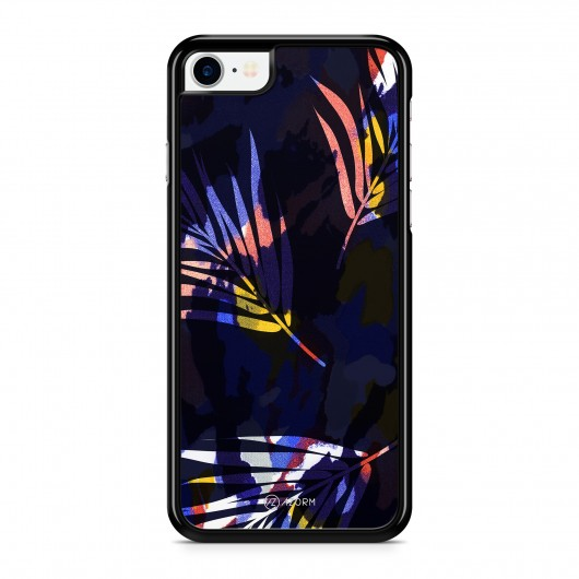 Coque iPhone 7 Colorful Palmier Noir