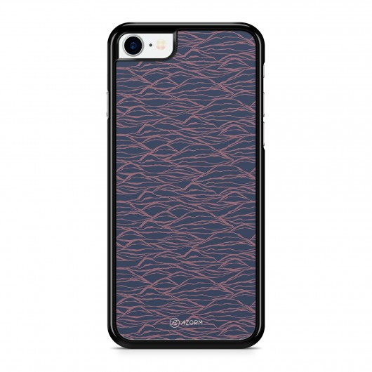 Coque iPhone 7 Minimal Waves Rose et Bleu