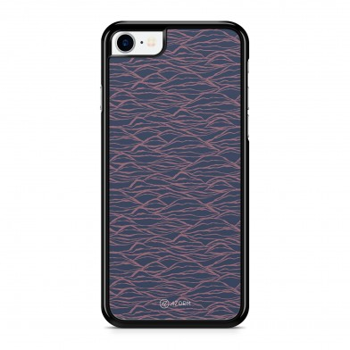 Coque iPhone 5/5S/SE Minimal Waves Rose et Bleu