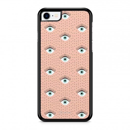 Coque iPhone 7 Yeux Pop Rose