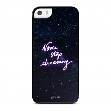 Coque iPhone 5/5S/SE Citation Never Stop Dreaming