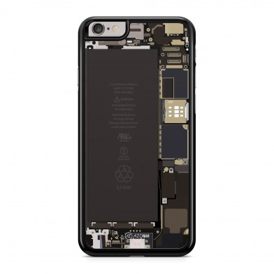 Coque iPhone 5/5S/SE Geek Motherboard Noir