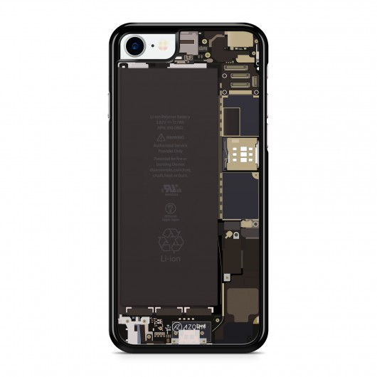 Coque iPhone 7 Geek Motherboard Noir