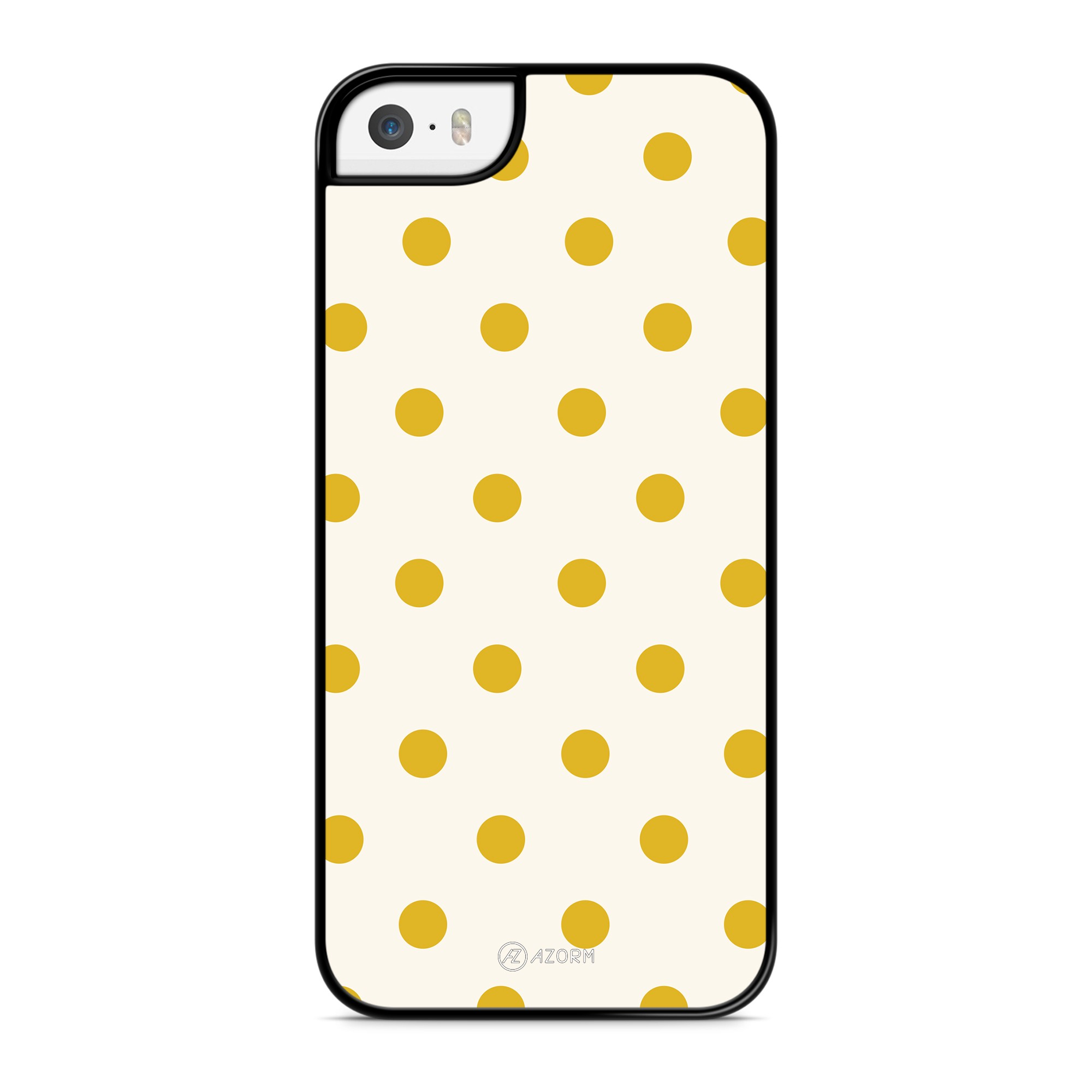 Coque Pois Jaune Moutarde