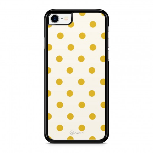 Coque iPhone 7 Pois Jaune Moutarde