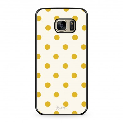 Coque iPhone 5/5S/SE Pois Jaune Moutarde