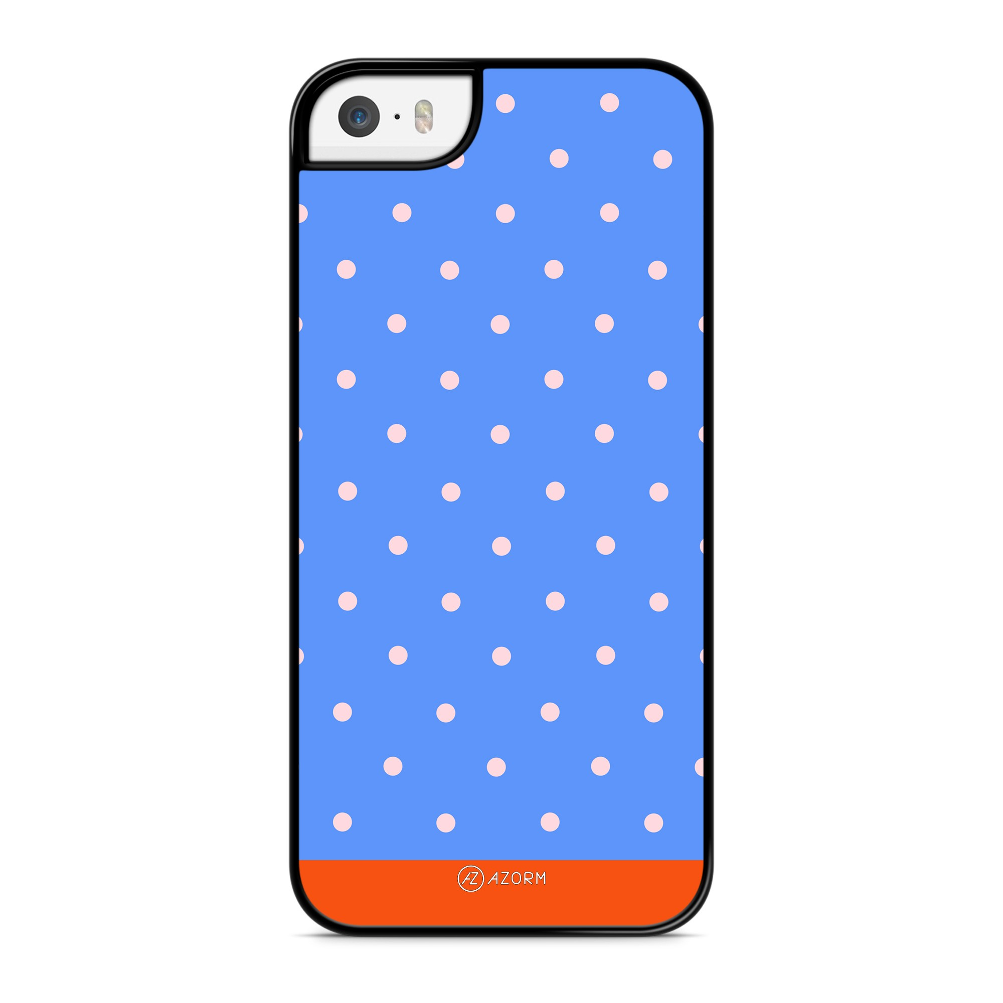 Coque Pois Orange Bleu