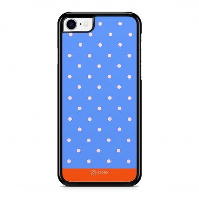 Coque iPhone 5/5S/SE Pois Orange Bleu