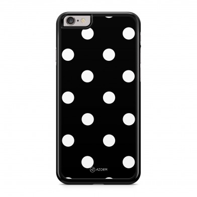 Coque iPhone 5/5S/SE Pois Blanc Noir